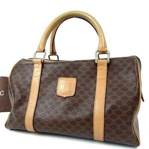 Auth CELINE Macadam Boston Bag 305CN349